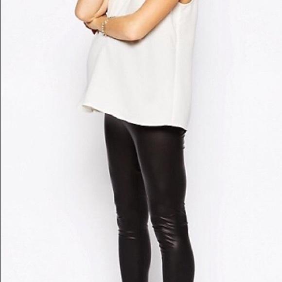 0ea9c1609d90e ASOS Maternity Pants | Maternity Leather Like Leggings | Poshmark
